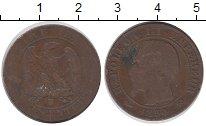Изображение Монеты Франция 5 сантим 1854 Медь VF