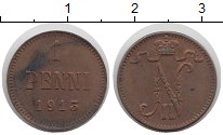Изображение Монеты 1894 – 1917 Николай II 1 пенни 1913 Медь XF