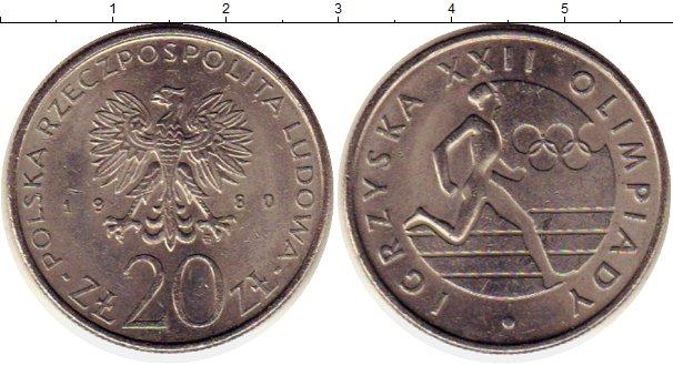 Картинка Монеты Польша 20 злотых Медно-никель 1980