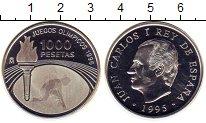 Изображение Монеты Испания 1000 песет 1995 Серебро Proof-
