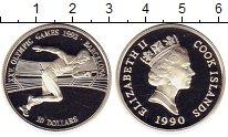 Изображение Монеты Острова Кука 10 долларов 1990 Серебро Proof- XXV олимпийские игры
