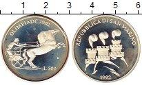 Изображение Монеты Сан-Марино 500 лир 1992 Серебро Proof-