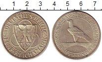 Изображение Монеты Веймарская республика 5 марок 1930 Серебро UNC- Освобождение Рейнлан