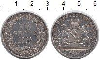 Изображение Монеты Германия Бремен 36 гротен 1864 Серебро XF