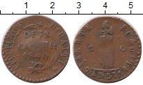 Изображение Монеты Гаити 2 сантима 1840 Бронза VF
