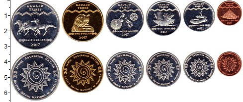 Изображение Наборы монет Резервация Хамул Индейцы Хамул Индейцы 2017 2017  UNC В наборе 6 монет ном