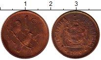 Изображение Монеты ЮАР 1 цент 1970 Бронза UNC-