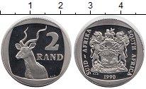 Изображение Монеты ЮАР 2 ранда 1990 Медно-никель UNC-