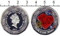 Изображение Монеты Острова Кука 1 доллар 2011 Серебро UNC Розы
