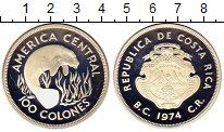 Изображение Монеты Коста-Рика 100 колон 1974 Серебро Proof- Ламантин