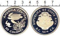 Изображение Монеты Коста-Рика 50 колон 1974 Серебро Proof-