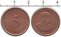 Изображение Мелочь Маврикий 5 центов 1995 Бронза UNC-