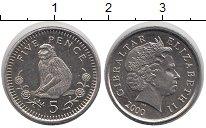 Изображение Монеты Гибралтар 5 пенсов 2000 Медно-никель XF