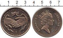 Изображение Монеты Великобритания Гибралтар 5 фунтов 1997 Латунь UNC-