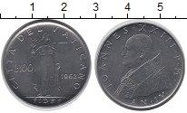 Изображение Монеты Ватикан 100 лир 1962 Сталь UNC- Вера,Женщина с чашей