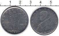 Изображение Монеты Ватикан 100 лир 1961 Сталь UNC- Вера,Женщина с чашей