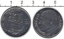 Изображение Монеты Ватикан 100 лир 1981 Сталь UNC- Ангел