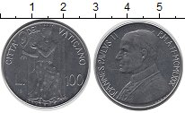Изображение Монеты Ватикан 100 лир 1980 Сталь UNC- Благоразумие
