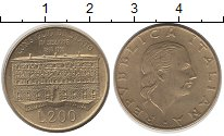 Изображение Монеты Италия 200 лир 1990 Латунь UNC- Архитектура