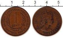 Изображение Монеты Карибы 1 цент 1955 Бронза XF