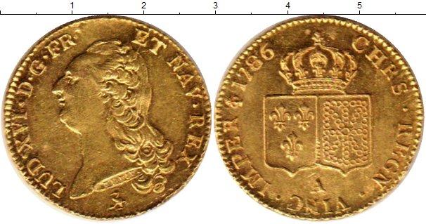 Картинка Монеты Франция 2 луидора Золото 1786