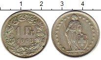 Изображение Монеты Швейцария 1 франк 1963 Серебро XF