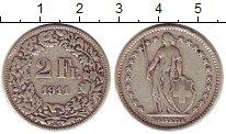 Изображение Монеты Швейцария 2 франка 1911 Серебро XF-