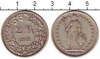 Изображение Монеты Швейцария 2 франка 1912 Серебро XF-