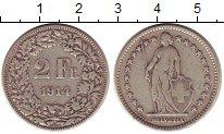 Изображение Монеты Швейцария 2 франка 1914 Серебро XF- Женщина со щитом