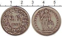 Изображение Монеты Швейцария 2 франка 1947 Серебро XF