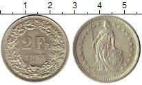 Изображение Монеты Швейцария 2 франка 1958 Серебро XF