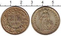 Изображение Монеты Швейцария 2 франка 1960 Серебро XF