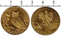 Изображение Мелочь Польша 2 злотых 2005 Латунь UNC- Филин,сова