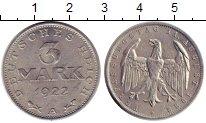 Изображение Монеты Веймарская республика 3 марки 1922 Алюминий XF А    3 - летие  Конс