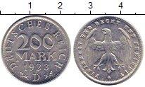 Изображение Монеты Веймарская республика 200 марок 1923 Алюминий UNC- D
