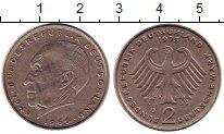 Изображение Монеты ФРГ 2 марки 1969 Медно-никель XF Конрад Аденауэр.D