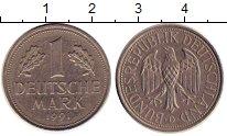 Изображение Монеты ФРГ 1 марка 1991 Медно-никель XF KM#110.D