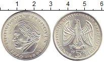 Изображение Монеты ФРГ 5 марок 1970 Серебро UNC- 200 лет со дня рожде