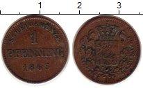 Изображение Монеты Бавария 1 пфенниг 1863 Медь XF