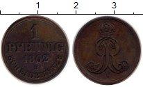 Изображение Монеты Германия Ганновер 1 пфенниг 1862 Медь XF