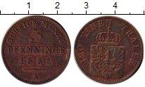 Изображение Монеты Пруссия 3 пфеннига 1855 Медь XF Герб, А