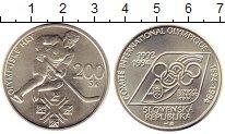 Изображение Монеты Словакия 200 крон 1994 Серебро UNC- 100  лет  Международ