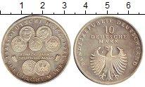 Изображение Монеты ФРГ 10 марок 1998 Серебро UNC- 50-летие немецкой ма