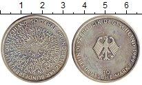 Изображение Монеты ФРГ 10 марок 1999 Серебро UNC- 50 - летие немецкой