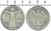 Изображение Монеты ФРГ 10 марок 2000 Серебро UNC- Экспо-2000, Ганновер