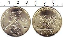 Изображение Монеты Словакия 200 крон 1994 Серебро UNC- Олимпийские игры 199