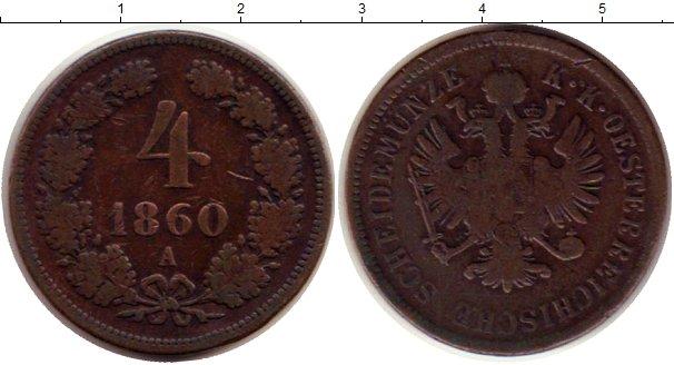 Картинка Монеты Австрия 4 крейцера Медь 1860