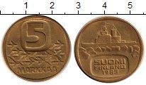 Изображение Монеты Финляндия 5 марок 1983 Латунь XF Ледокол