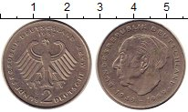 Изображение Монеты ФРГ 2 марки 1987 Медно-никель XF Портрет