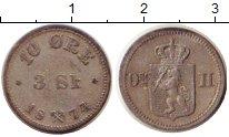 Изображение Монеты Норвегия 10 эре 1874 Серебро XF